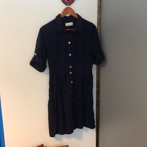 Navy Blue Old Navy Button Down Dress